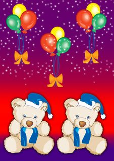 Free Teddy With Balloons 5 Royalty Free Stock Photo - 2650175