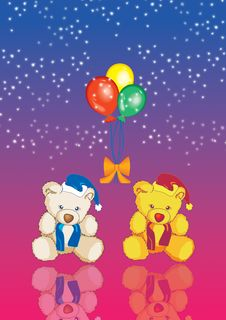 Free Teddy With Balloons 9 Stock Photos - 2650213