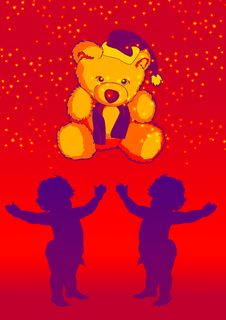 Free Baby With Teddy 11 Royalty Free Stock Photography - 2650227
