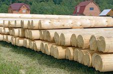 Free Logs. Construction Stock Image - 2650321