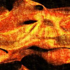 Orange Batik Stock Photography