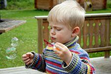 Free Boy Making Bubbles Royalty Free Stock Photo - 2652275