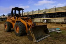 Free Bulldozer And Construction Royalty Free Stock Photography - 2653137