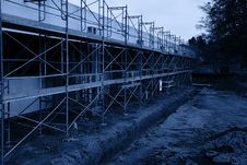 Free Parking Lot Scaffolding Royalty Free Stock Images - 2653169