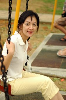 Free Chinese Lady On Swing Royalty Free Stock Images - 2654959