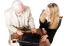 Two Business Associates Stock Image