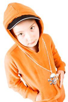 Free A Pretty Girl In Orange Stock Photo - 2655720