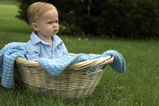Free Basket Baby Royalty Free Stock Images - 2656299