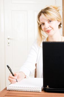 A Business Woman Taking Notes Royalty Free Stock Photo