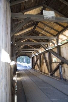 Covered Bridge, Vermont Stock Photo