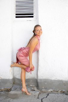 Free Girl In Pink Dress Royalty Free Stock Photos - 2658408