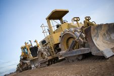 Free Parked Bulldozers Royalty Free Stock Image - 2659316