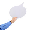 Free Arm Holding A Speech Bubble Stock Photos - 26501763