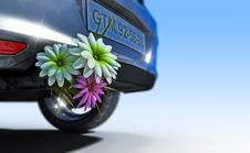 Free Ecologic Fuel Concept With Flowers Stock Photo - 26500270
