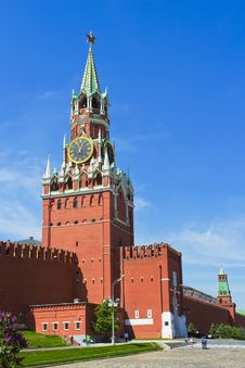 Free Spasskaya Tower. Moscow Stock Photos - 26500433