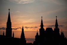 Free Moscow Kremlin At Sunset Stock Photos - 26500753