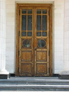 Ancient Architecture Entrance With Old Door Stock Photography