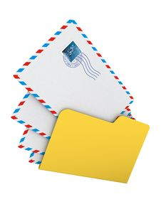 Folder With Mails Stock Photography
