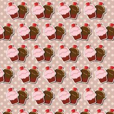Cupcake Background Stock Image