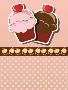 Free Cupcake Invitation Royalty Free Stock Photos - 26502718