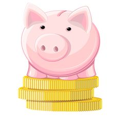 Free Piggy Bank And Coins Stock Photos - 26502803