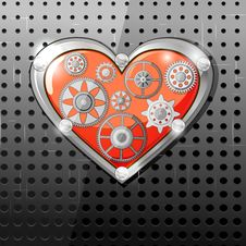 Free Heart With Gears Stock Photo - 26502830