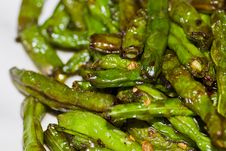 Free Fried Long Bean Royalty Free Stock Photos - 26509998