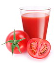 Free Tomato Juice With Ripe Tomato Stock Photography - 26511152