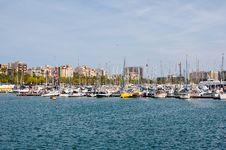 Free Barcelona Harbor. Royalty Free Stock Photos - 26510608