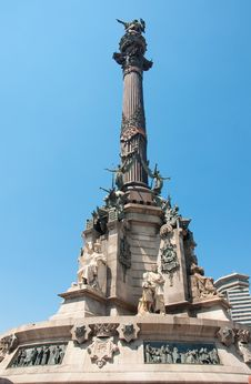 Free Columbus Monument, Barcelona. Spain. Royalty Free Stock Photography - 26510977