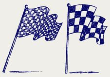 Free Checkered Flags Royalty Free Stock Photo - 26513665