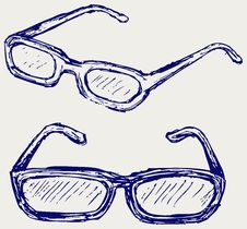 Glasses Silhouettes Stock Photos