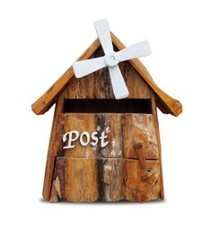 Free Wooden Mailbox. Stock Image - 26514551