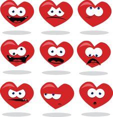 Free Funny Heart Royalty Free Stock Photos - 26515058