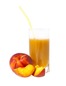 Free Peach Juice Stock Photography - 26517302
