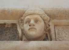 Head Of A Young Man - Sibenik Cathedral Royalty Free Stock Photo