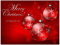 Free Baubles On Red Background & Text Stock Photos - 26527213