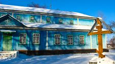 Free Long Rural Church In Winter Royalty Free Stock Photo - 26521695