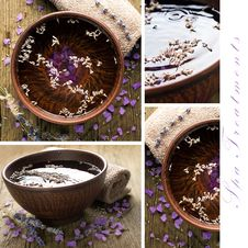 Free Spa Treatments Collage Royalty Free Stock Photography - 26524447