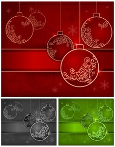 Free Background With Baubles Stock Image - 26527211