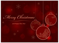Free Background With Baubles & Text Stock Photography - 26527222