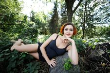 Free Redhead Girl Resting Royalty Free Stock Image - 26528146