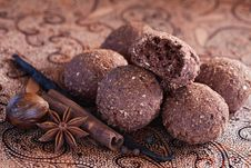 Free Oatmeal And Chocolate Cookies Stock Images - 26528834