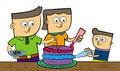 Free Family Baking Royalty Free Stock Photography - 26533267