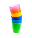 Free Stack Of Colorful Plastic Cups Isolated Royalty Free Stock Photos - 26535048