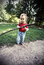 Free Frightened Boy Walks In The Woods Royalty Free Stock Photos - 26537768