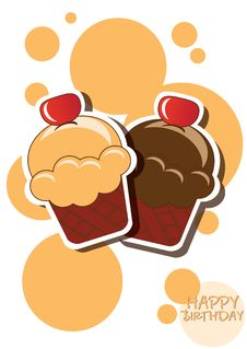 Cupcake Card Royalty Free Stock Image