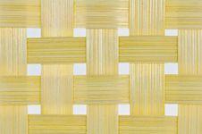 Bamboo Basketwork Background Royalty Free Stock Image