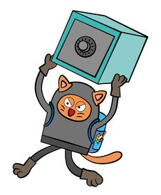 Cat Burglar Royalty Free Stock Photography