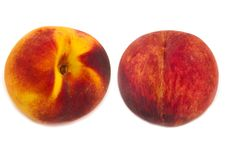 Free Two Peaches Isolated Royalty Free Stock Images - 26535769